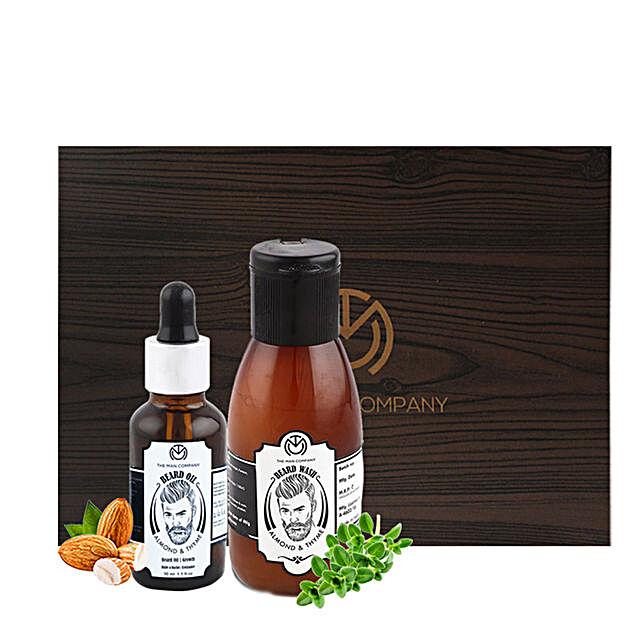 The Man Company Almond & Thyme Beard Combo