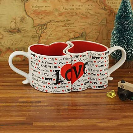 Love Hearts Mug Set