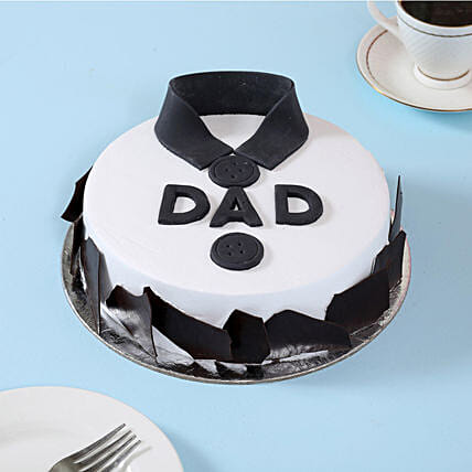 Classic Fondant Dad Cake 1kg Black Forest