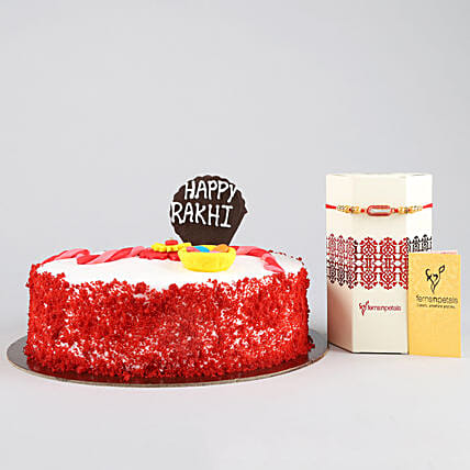 Yummy Red Velvet Cake for Rakhi Online