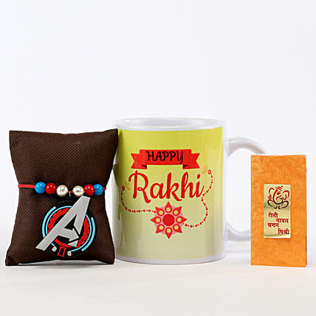 Happy Rakhi Mug & Avengers Rakhi