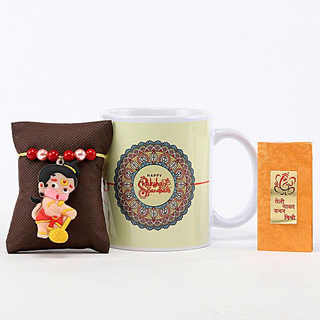 Printed Rakhi Mug & Bal Hanuman Rakhi