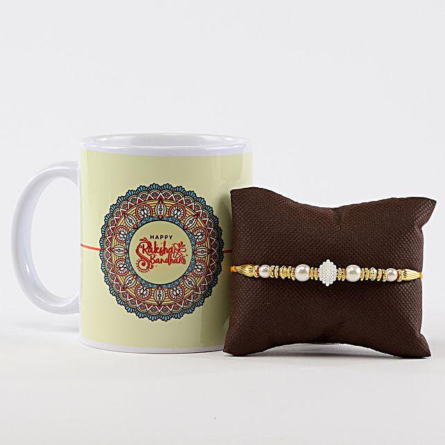 Printed Rakhi Mug & Moti Rakhi
