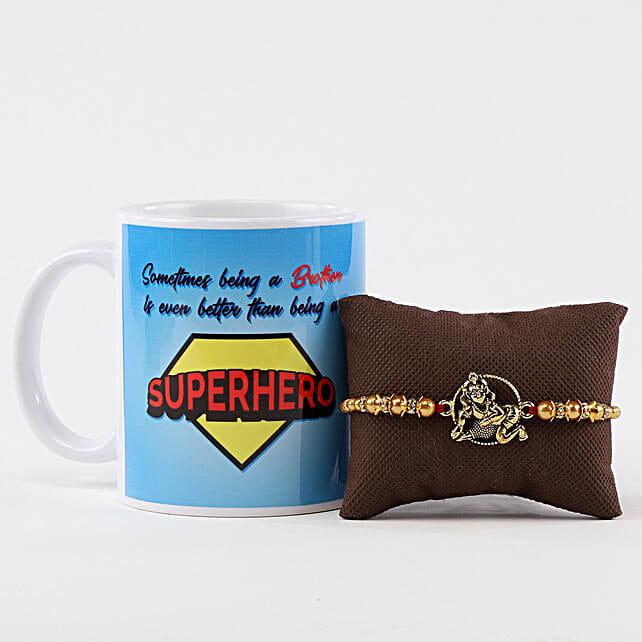 Superhero Brother Mug & Lord Krishna Rakhi