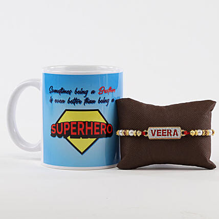 Superhero Brother Mug & Veera Rakhi