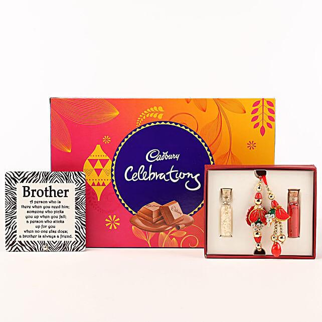 Designer Rakhi Table Top Chocolate Box