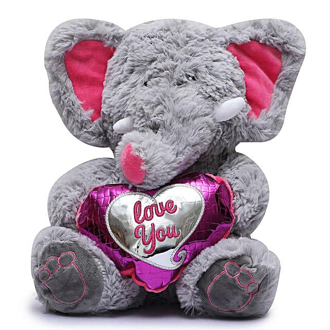 Online Grey Elephant Soft Toy
