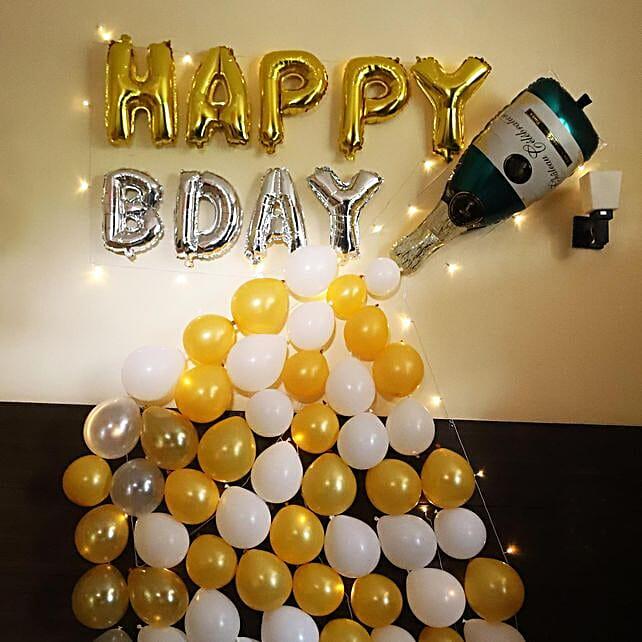 Champagne Decor for Birthday