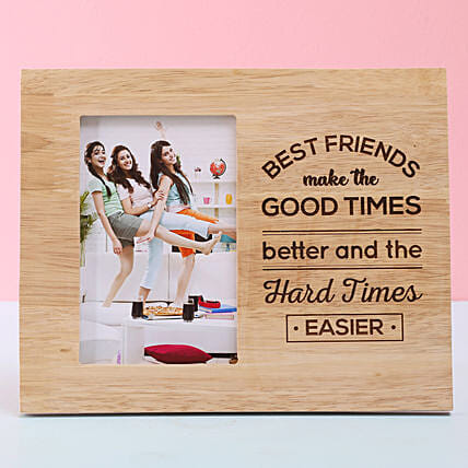 Personalized Wooden Photo Frame For Best Friend