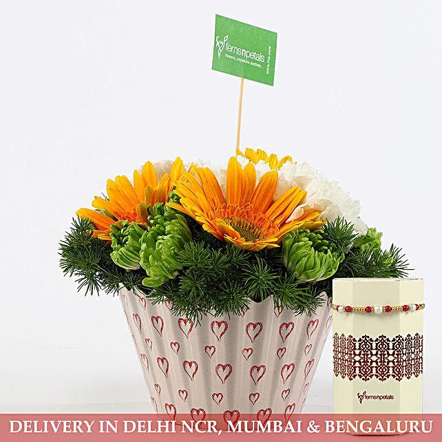 Designer Flower Arrangement and Rakhi Online