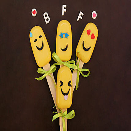 Emoji Special Funny Cakesicles Set of 4