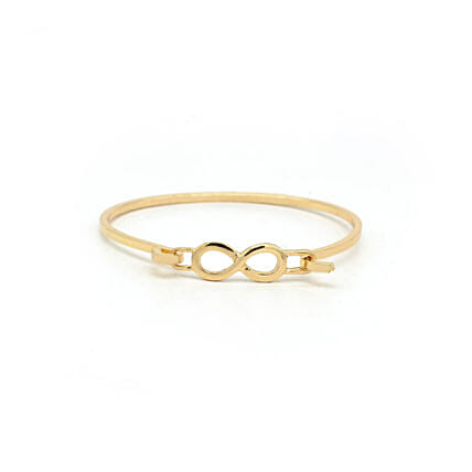 Infinity Closed Gold Bracelet