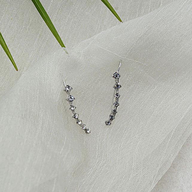 Silver Crystal Ear Crawlers