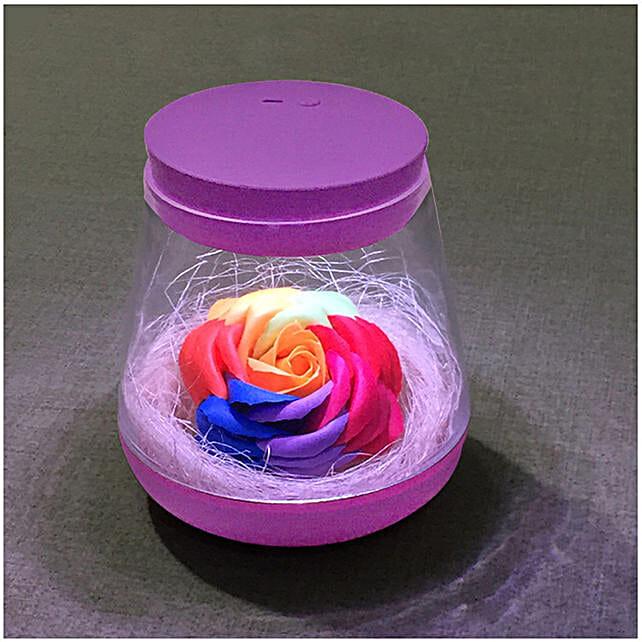 Rose Flower Color Changing Night Light Purple