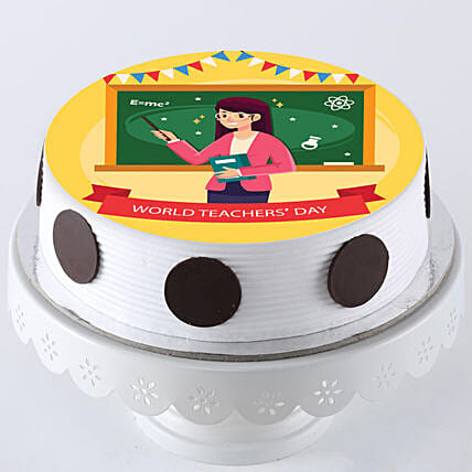 Teacher X27 S Day Special Pineapple Photo Cake 1 Kg Gift Perosalised Cake For Teachers Day Ferns N Petals