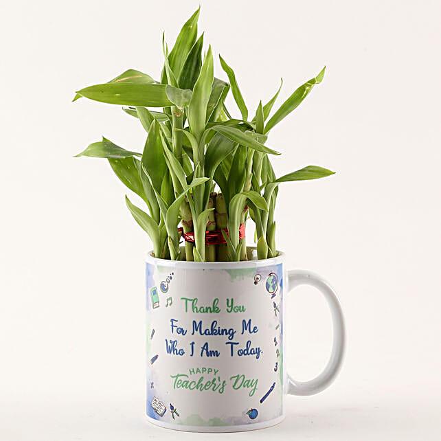 Two Layer Bamboo in White Teachers Day Mug