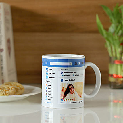 Personalised Facebook Birthday Mug