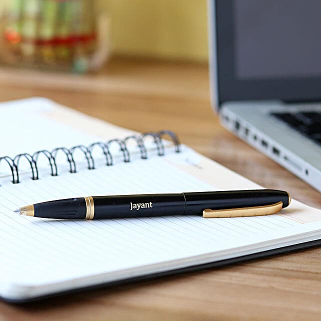 Personalised Black & Golden Body Roller Pen