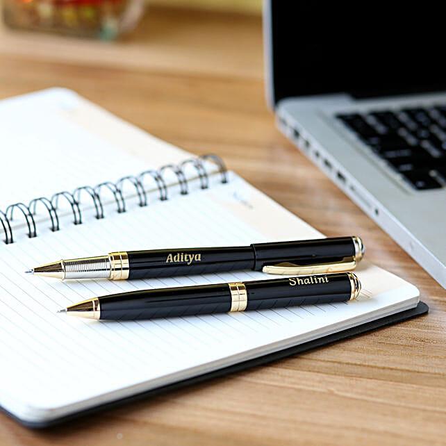 Personalised Roller Pen Set