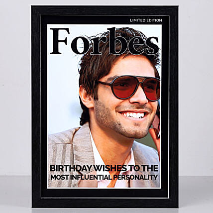Forbes Personalized Cover Black Frame
