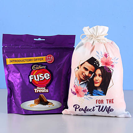 Chocolate with Photo Bag for Wife