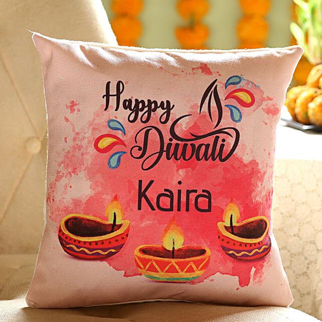 Customise Diwali Cushion for Her