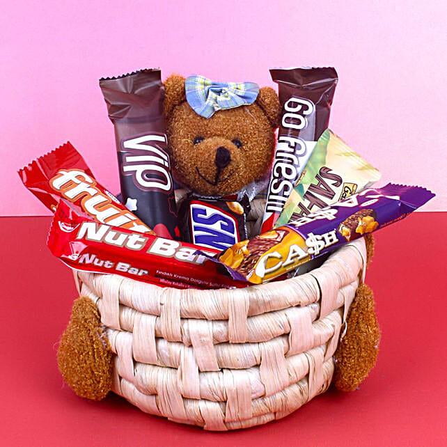 Soft Toy Chocolate Basket