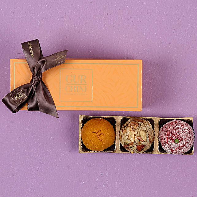 Assorted Laddu In Orange Box 250 gms