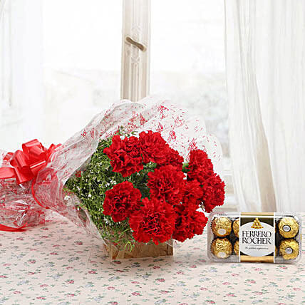 Lovely Carnation With Sweet Chocolate