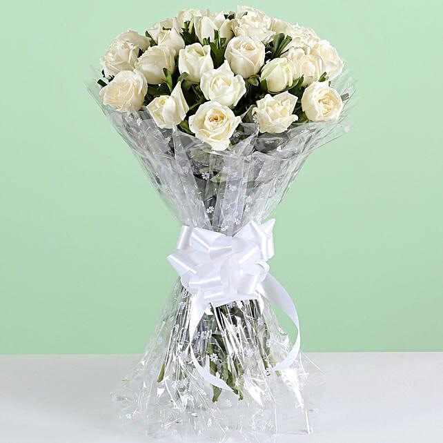 Elegant White Rose Bouquet