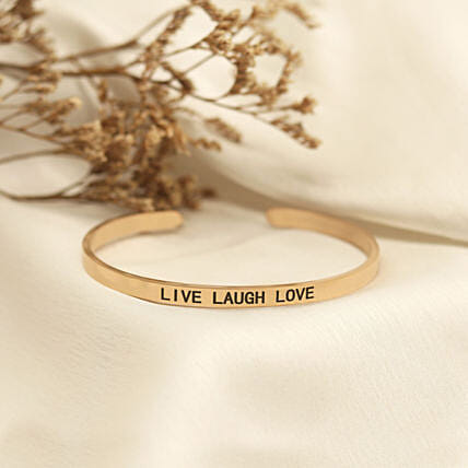 Live Laugh Love Rose Gold Band