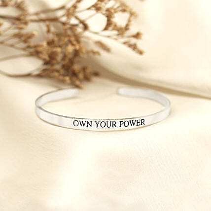 Own Your Power Silver Band