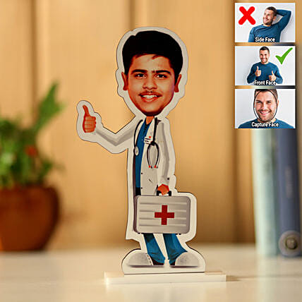 Online Personalised Male Doctor Caricature:Send Caricatures