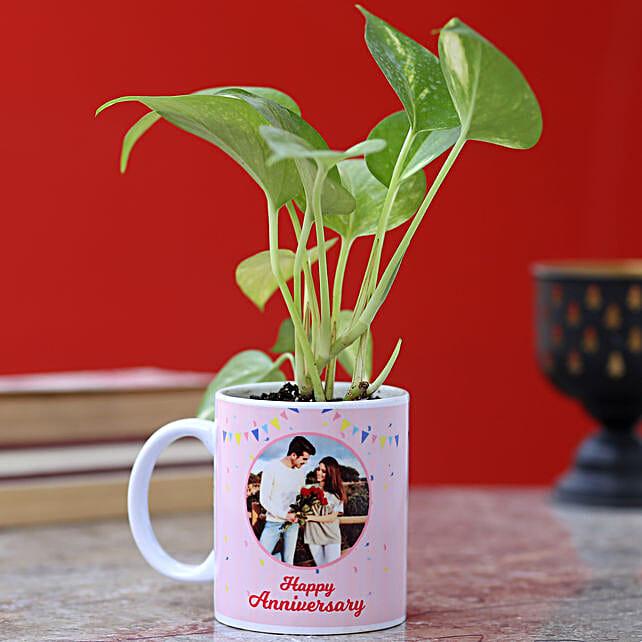 Personalised Anniversary Golden Money Plant