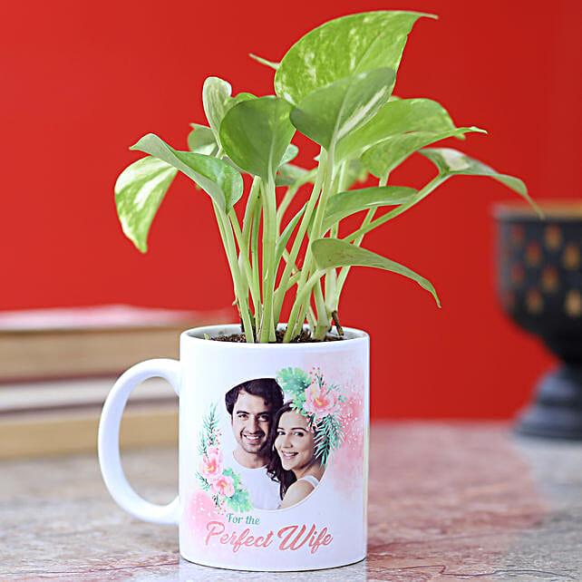 Personalised Money Plant Mug For Wife