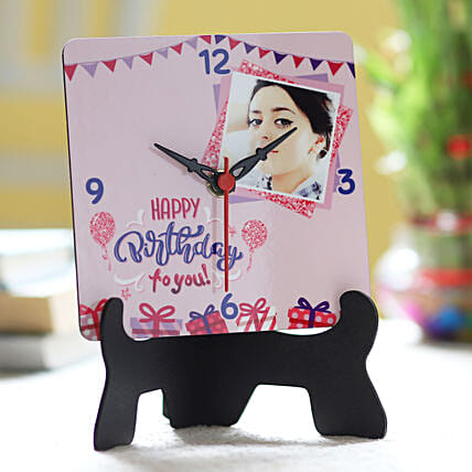 Personalised Balloon Wishes Table Clock