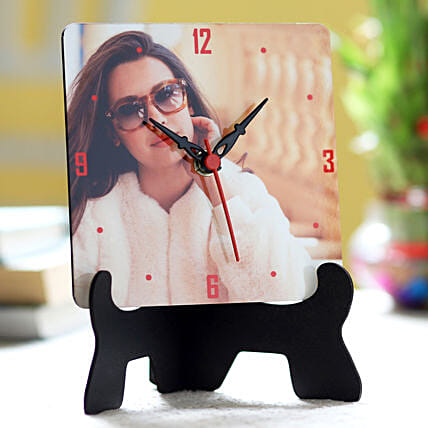 Online Personalised Table Clock For Her