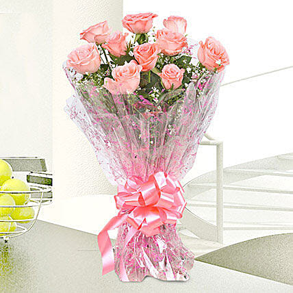 Bouquet Of 40 Vibrant Pink Roses