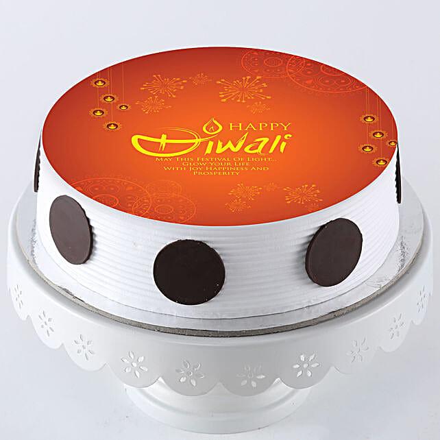 Diwali Special Pineapple Photo Cake- 1 Kg