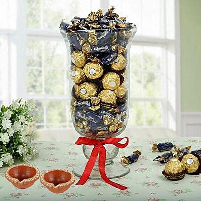 chocolate in vase for diwali online