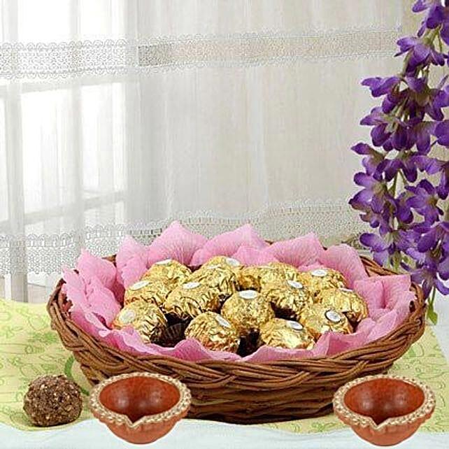 diwali chocolate basket online