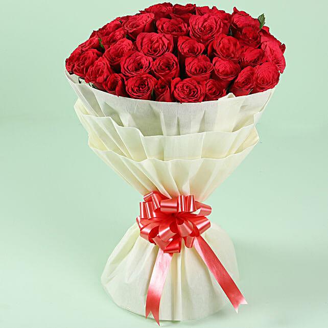Exquisite 50 Red Roses Bouquet