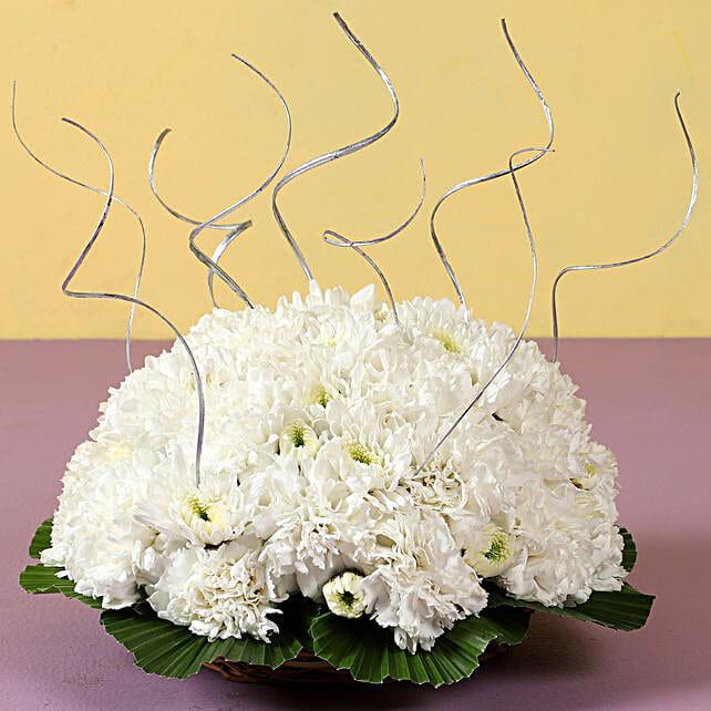 White Roses Arrangement Online