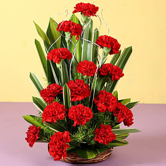 Red Carnation Arrangement Online