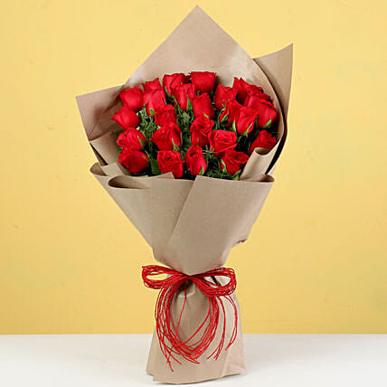 Scintillating 24 Red Roses Bouquet