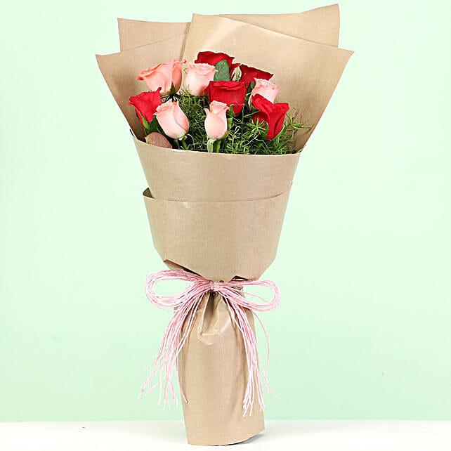 mix roses bouquet online