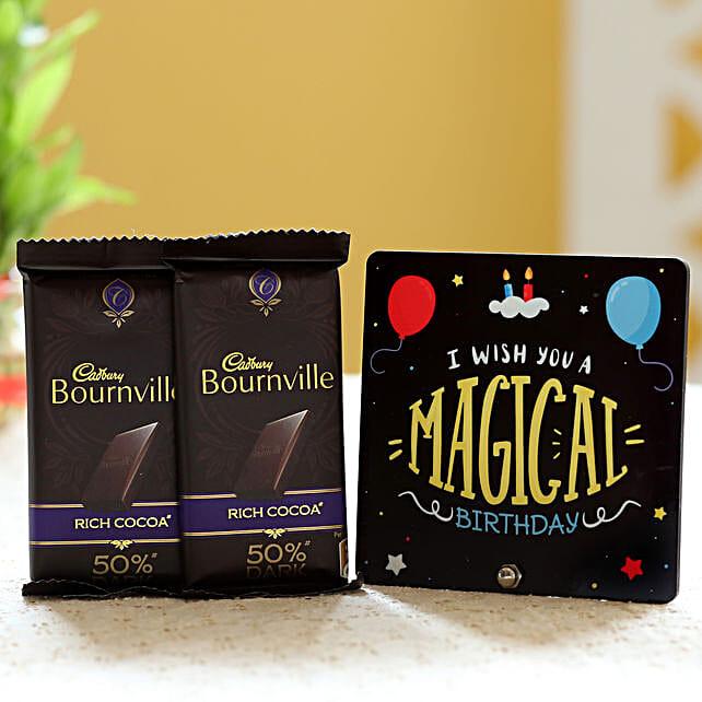 Chocolate Bars with Birthday Table Top Online:Send Cadbury Chocolates