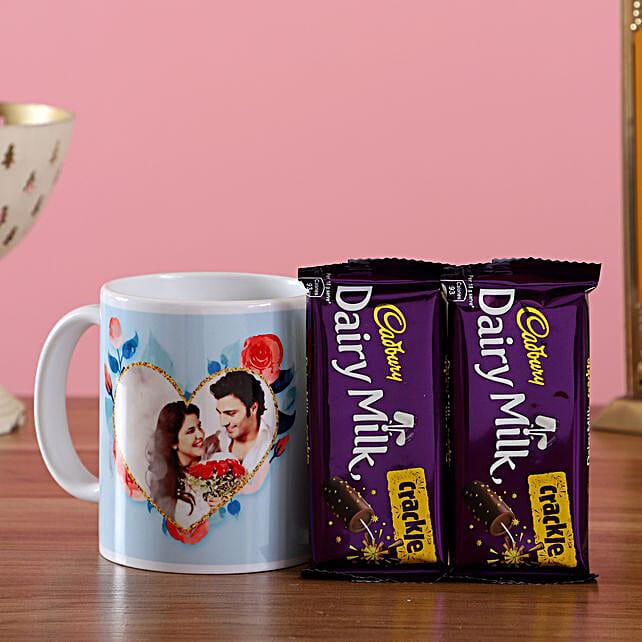 Photo Mug and Chocolate Combo for Couple