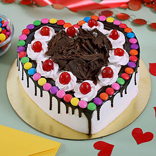Chocolate Heart Shaped Cake Online