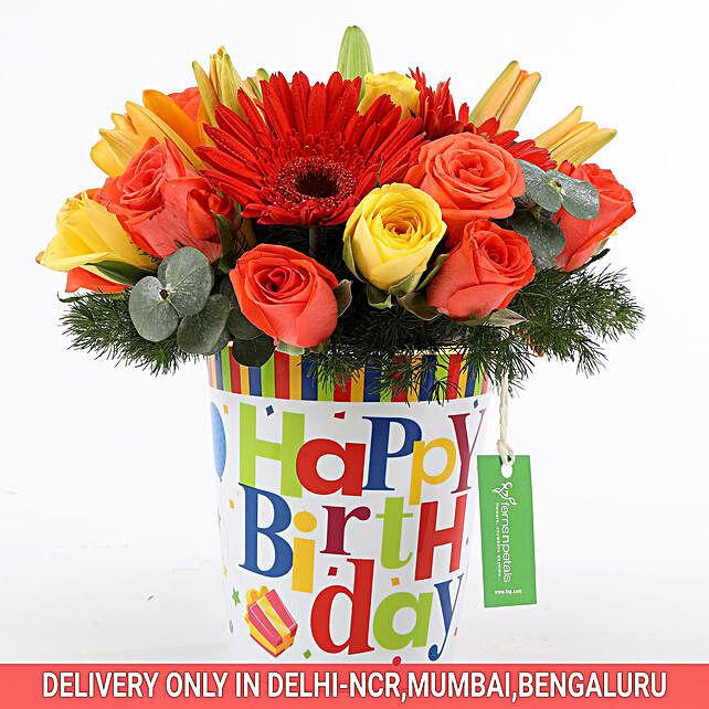 Birthday Special Flower Arrangement